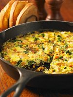 Bacon, Spinach, and Cheese Frittata